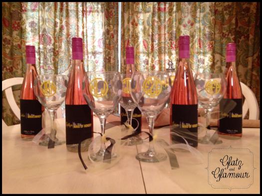 Bridesmaid Wine Labels from Glatz & Glamour