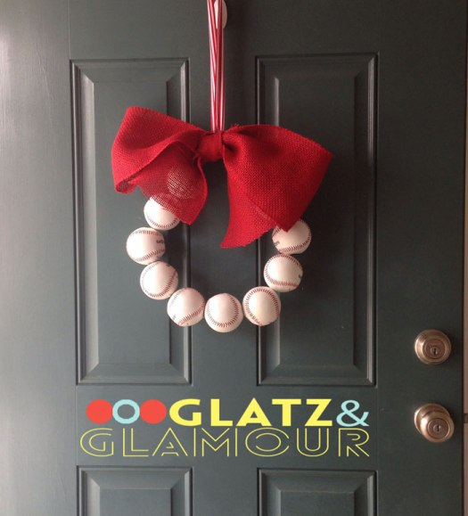 DIY Baseball Wreath   Glatz & Glamour