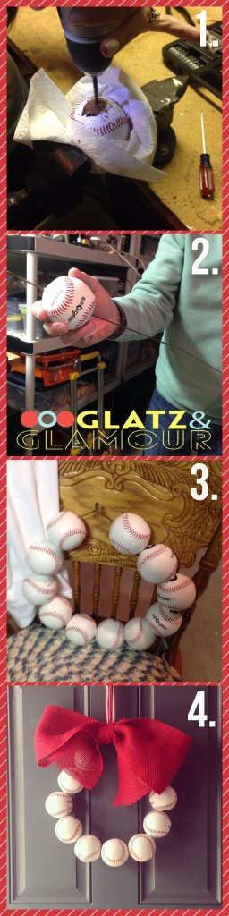 DIY Baseball Wreath | Glatz & Glamour