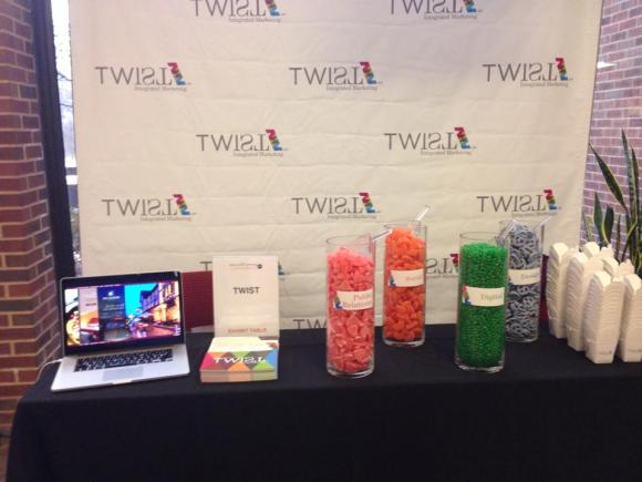 Twist St. Louis's booth at #UMSLDigital